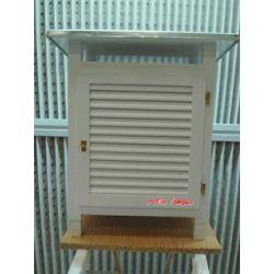 Gàbia meteorològica amb pota metàl·lica. Capacitat 480x220x450 mm