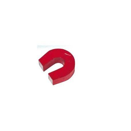 Imant alnico ferradura vermell. Mides 29x26x9 mm