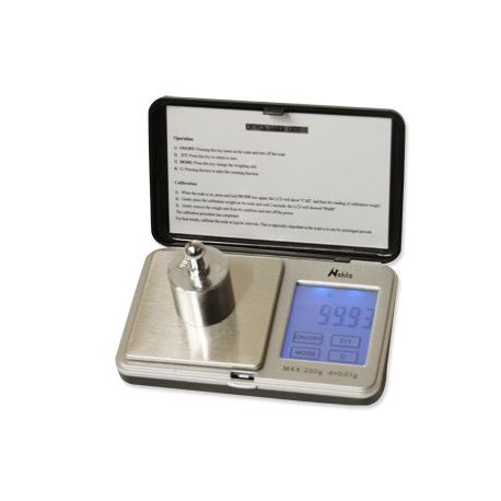 Balança butxaca Nahita D2-200. Càrrega 200 grams en 0'01 g