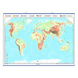 Mapa mural mut retolable 1300x1000 mm. Mapamundi