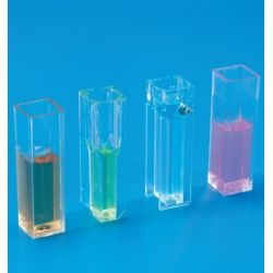 Cubetes espectrofotòmetre PS semimicro 1'5 ml. Capsa 100 unitats