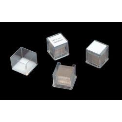 Cobreobjectes quadrats 20x20 mm. Capsa 100 unitats