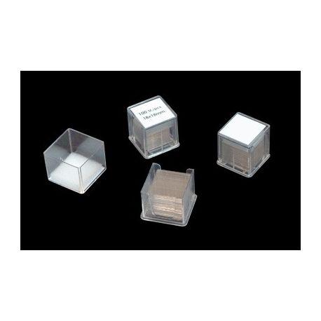Cobreobjectes quadrats 24x24 mm. Capsa 100 peces