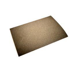 Papel de lija grano muy fino número 00. Hoja 230x330 mm