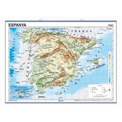 Mapa mural fisicopolític 900x1180 mm. Península Ibèrica