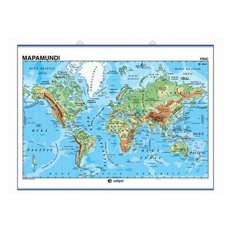 Mapa mural fisicopolítico 990x1300 mm. Mapamundi