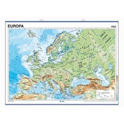 Mapa mural fisicopolítico 900x1120 mm. Europa