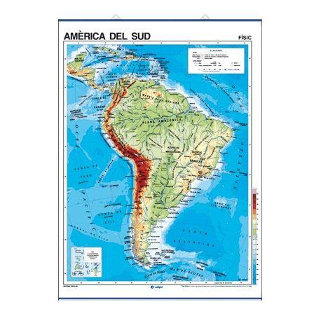 Mapa mural fisicopolítico 900x1180 mm. América del Sur