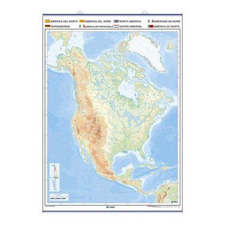 Mapa mural mut retolable 1400x1000 mm. Amèrica del Nord
