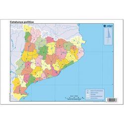 Mapas mudos colores 330x230 mm. Cataluña política. Bloque 50