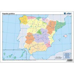 Mapes muts colors 330x230 mm. Pen. Ibèrica política. Bloc 50 units