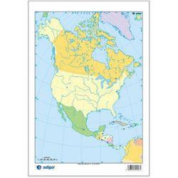 Mapes muts colors 230x330 mm. Amèrica Nord política. Bloc 50