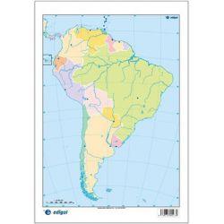 Mapas mudos colores 230x330 mm. América Sur política. Bloque 50