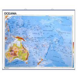 Mapa mural fisicopolítico 900x1100 mm. Oceanía