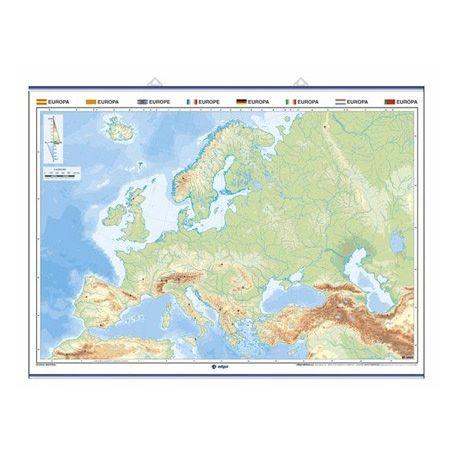 Mapa mural mudo rotulable 1400x1000 mm. Europa
