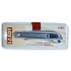 Cúter metàl·lic inox autobloqueig amb protector. Fulla 18 mm