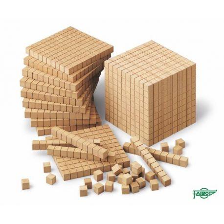 Bloque multibase madera décima. Medidas 100x10x10 mm