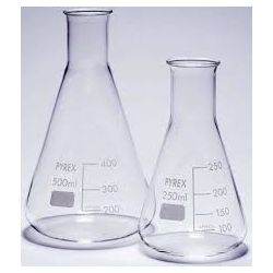 Matraz Erlenmeyer vidrio Pyrex. Capacidad 50 ml