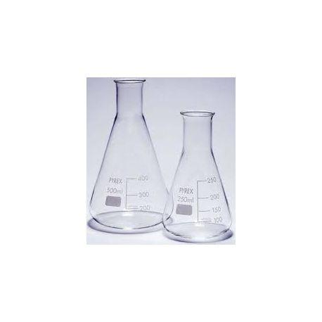 Matraz Erlenmeyer vidrio Pyrex. Capacidad 500 ml