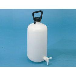 Bidón cilíndrico plástico PEHD con grifo. Capacidad 5 litros