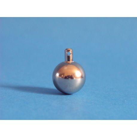 Bola pendular acer inoxidable amb ganxo. Diàmetre 15 mm