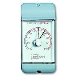 Termòmetre màxima-mínima bimetàl·lic TFA-4002. Plàstic 77x160 mm