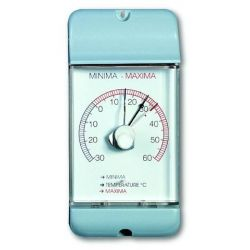 Termómetro máxima-mínima bimetálico TFA-4002. Plástico 77x160 mm