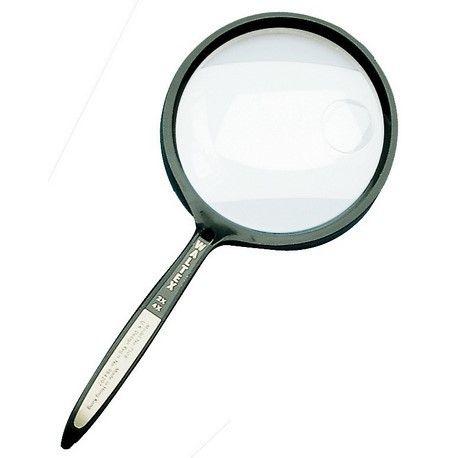 Lupa de mà bifocal 2x-4x. Compacta plàstic 65 mm