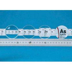 Lente vidrio óptico 50 mm V-14241. Biconvexa +50 mm