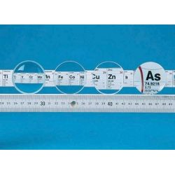 Lent vidre òptic 50 mm V-14248. Biconvexa +500 mm