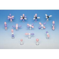 Modelos moleculares MOS-901-14. Orbitales atómicos, 14 modelos