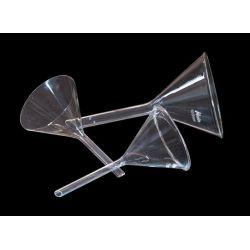 Embudos análisis vidrio forma alemana 75 mm. Caja 10 unidades