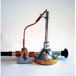Mechero gas Bunsen seguridad 11 mm con reguladores. Gas butano