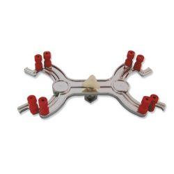 Pinza soporte Fischer aluminio. Capacidad 2 buretas