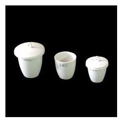 Crisol porcelana forma alta con tapa. Medidas 54x42 mm (40 ml)