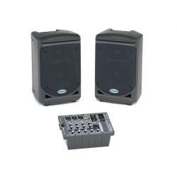 Equipo sonido portátil compuesto Samson XP-150. Potencia 2x75 W