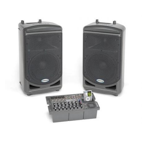 Equipo sonido portátil compuesto Samson XP-510i. Potencia 2x250