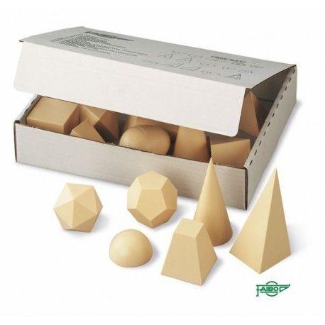 Cuerpos geométricos plástico opaco 50x50 mm. Caja 25 piezas