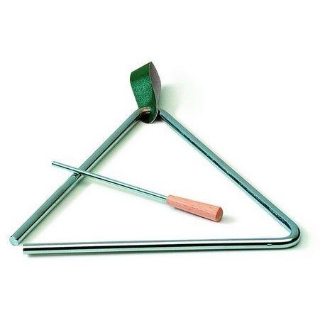 Triángulo acero con batidor y apoyo. Medidas 150x150 mm