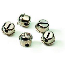 Cascabel cromado con anilla. Diámetro 20 mm
