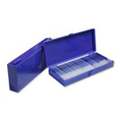 Caja guardar portaobjetos plástico BPG-010. Capacidad 50 piezas