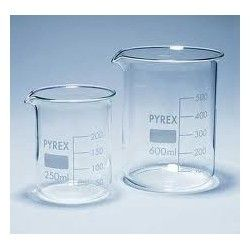Vaso precipitados vidrio Pyrex 25 ml. Caja 10 unidades