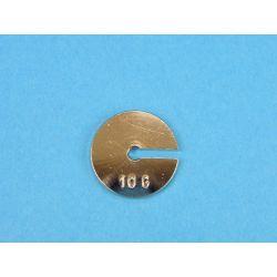 Peso ranurado portapesos V-11281. Metálico 10 g
