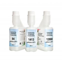 Solución calibrar patrón conductividad 1413 uS / cm XS-633. Frasco 500 ml