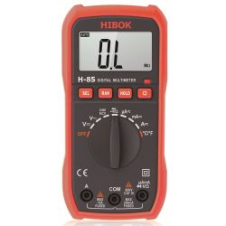 Multímetro digital Hibok-85. VCC-VCA-ACC-ACA-OHM-hFe