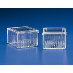 Cubeta tinción plástico PMP Schiefferdecker K-351. Horizontal 10 ranuras