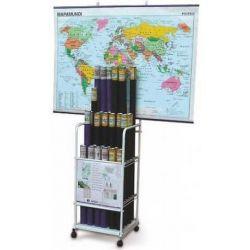 Arxivador vertical mapes amb rodes. Quatre compartiments 190x190 mm