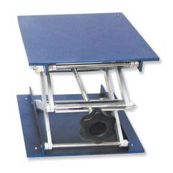 Suport elevador alumini 40 a 140 mm. Plataforma 100x100 mm