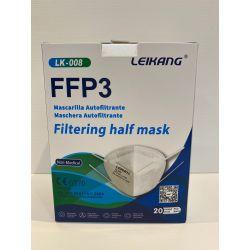 Mascaretes autofiltrants partícules FFP3 sense vàlvula LK-008. Capsa 20 unitats