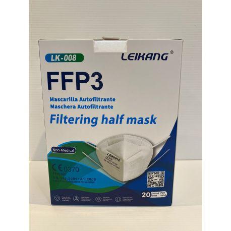 Mascarillas autofiltrantes partículas FFP3 sin válvula LK-008. Caja 20 unidades